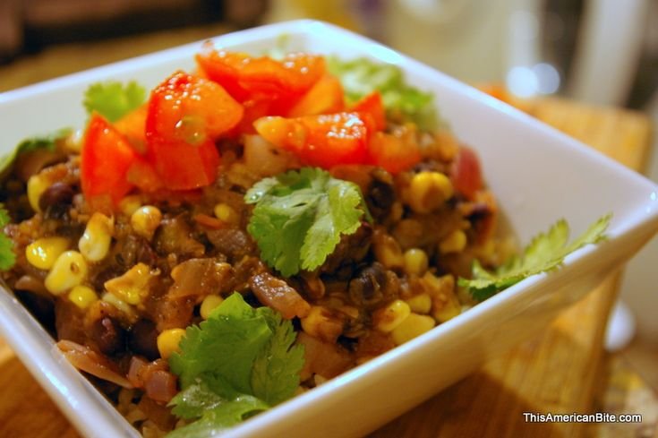 Quick Vegetarian Chili Recipe - Meatless Black Bean & Corn Chili