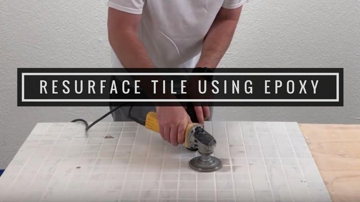 Tile Countertops With Metallic Epoxy
