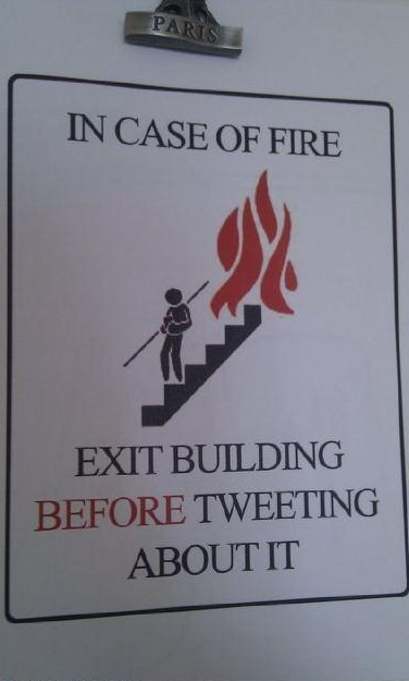 Health and safety tip for the poorly witted