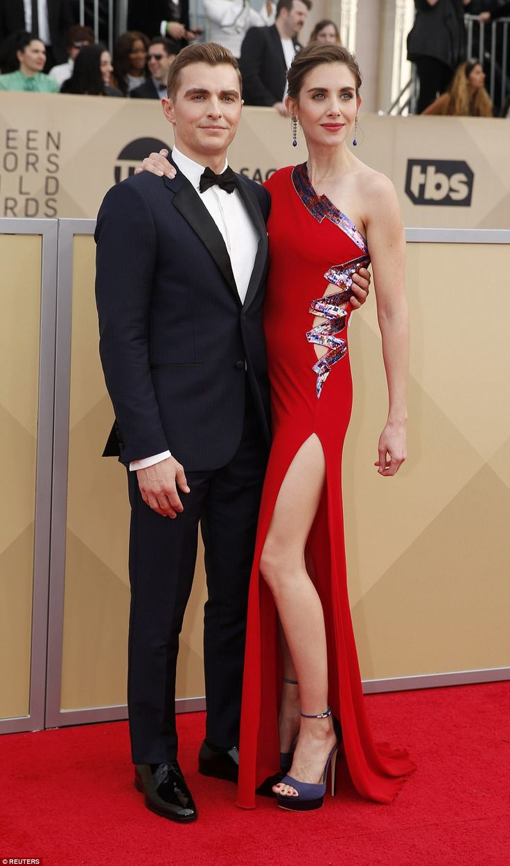Glowed up: Alison Brie (pictured with husband Dave Franco) took the 80s-inspired looks from GLOW to the red carpet
