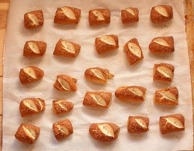 Sem glúten macio pretzel Pedaços