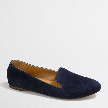 I've been looking everywhere for these!!!! J.Crew Factory  Factory Addie suede loafers