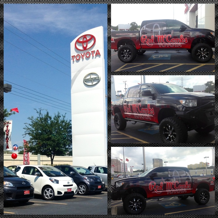 Presenting the Red McCombs Toyota Show Truck! Like the new work done to this Toyota Tundra?  http://redmccombstoyota.com/