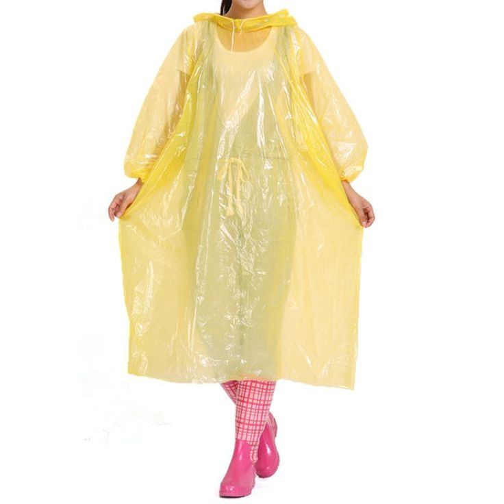 Maveek 2 Pack Lightweight Adult Emergency Hooded Raincoat disposable rain poncho For Festivals, Camping, Theme Parks >>> See this great product.