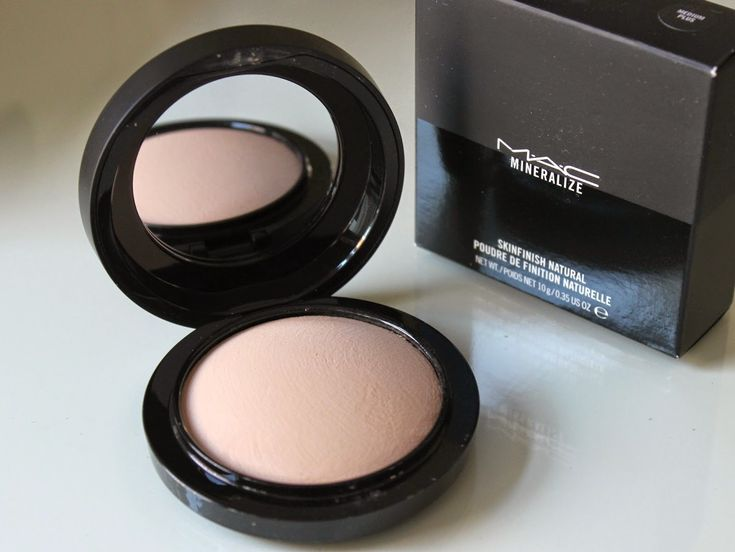 MAC Mineralize Skinfinish Natural Powder in medium to set entire face very light coverage and glowy