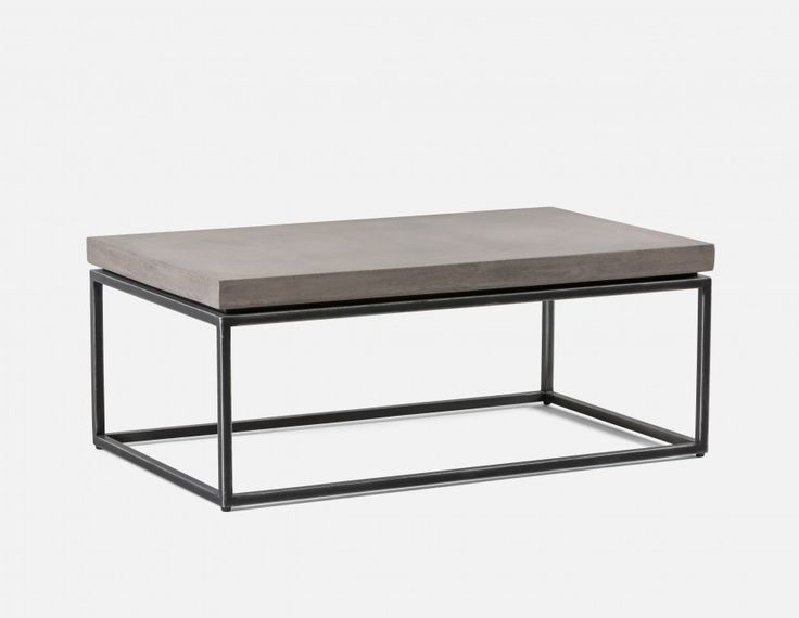 KAIA - coffee table with grey concrete top - Grey