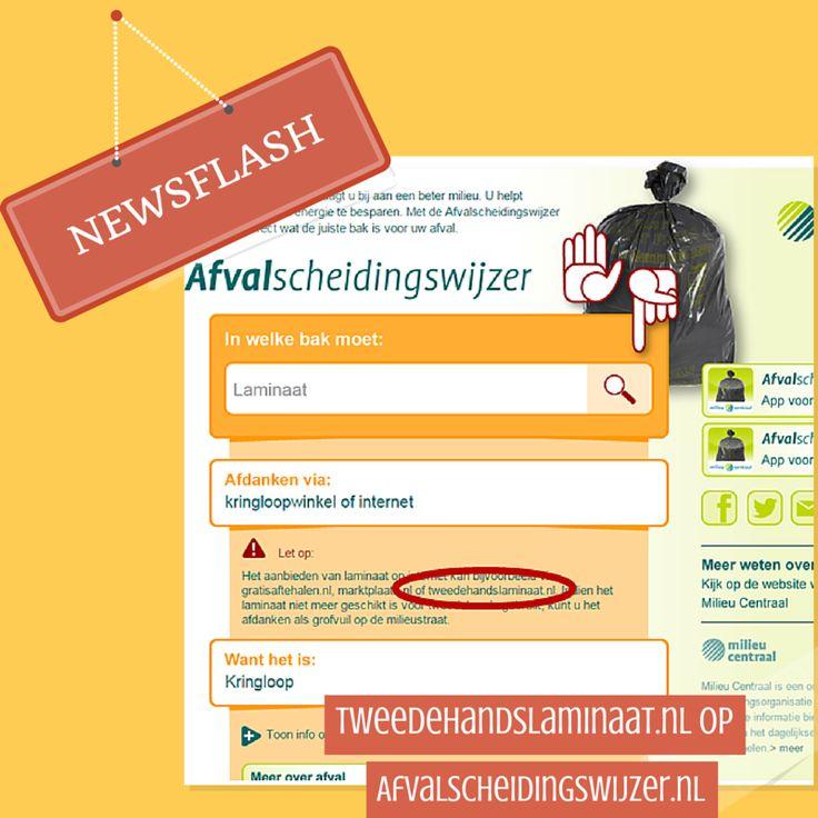 Jeej! Http://www.Tweedehandslaminaat.nl te vinden op http://www.afvalscheidingswijzer.nl :)