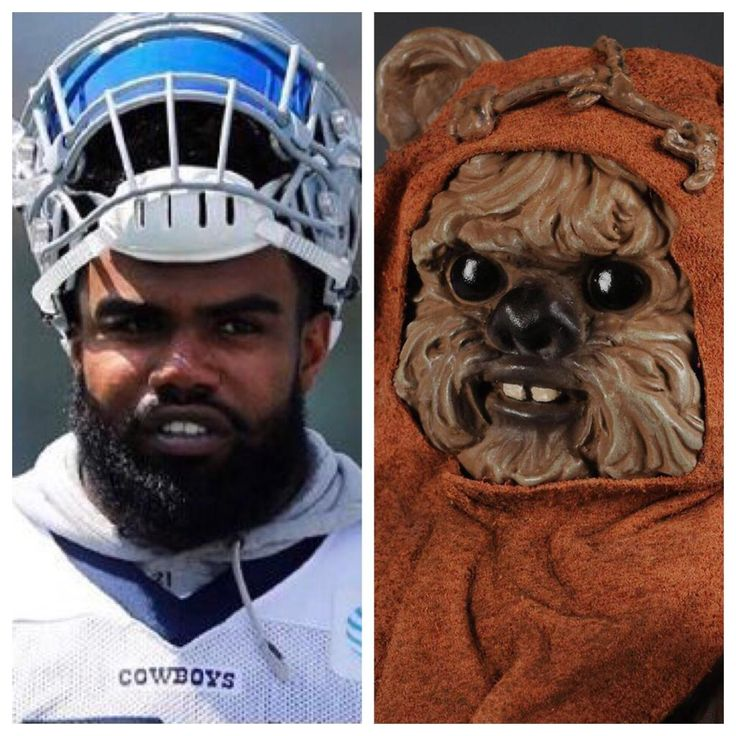 NFL football player that seriously looks like an ewok from Star Wars.