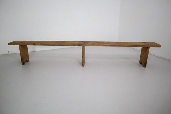 Mid 20th Century Extra Long Industrial Bench In 2020 Industrial Bench Mid Century Modern Wood Bench