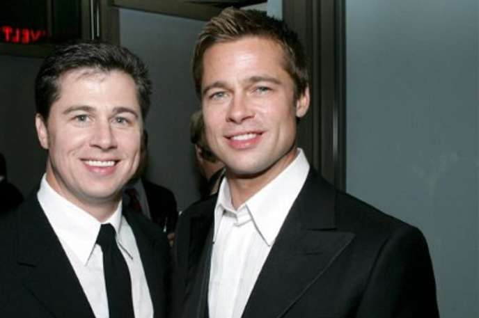 Doug Pitt looks a bit more like Zach Braff's long lost brother than he does like Brad Pitt. #celebrities #siblings