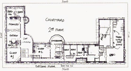 Richardson 39 s glessner house 2nd floor plan via big old for Richardson homes floor plans