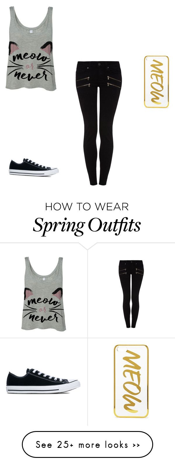 """""""Sans titre #130"""" by mystyblue on Polyvore featuring Paige Denim, Converse and Forever 21"""