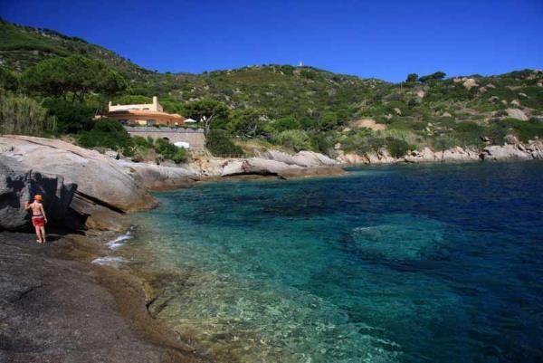spiaggia arenella isola del giglio