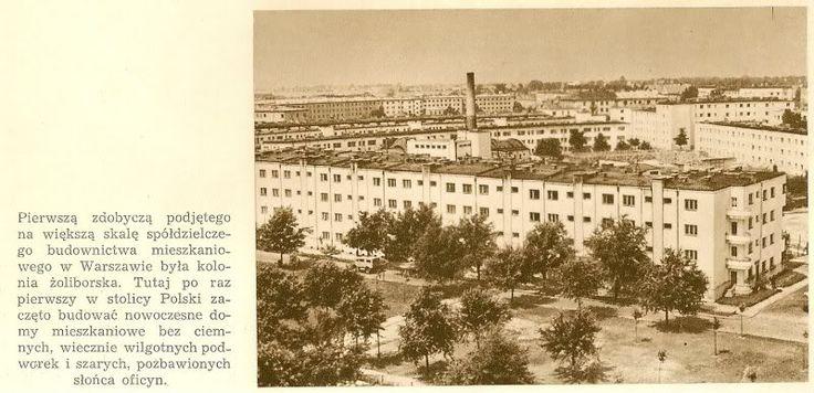Żoliborz, koniec lat 40. (Warszawa Stolica Polski, Społeczny Fundusz Odbudowy Stolicy, 1949)