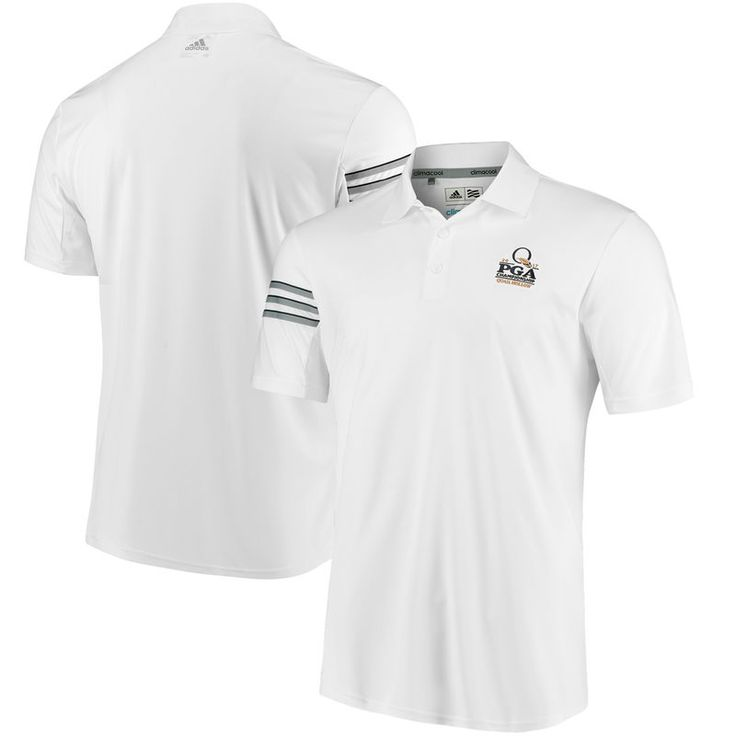 adidas 2017 PGA Championship 3-Stripes climacool Polo - White