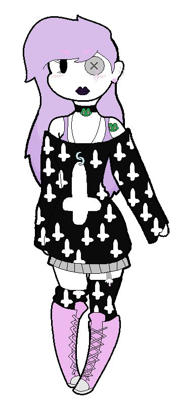 This is my pastel goth style..in chibi-ish. The base i used is by InvaderKim365, If it isn't, please give me the real creator's name.