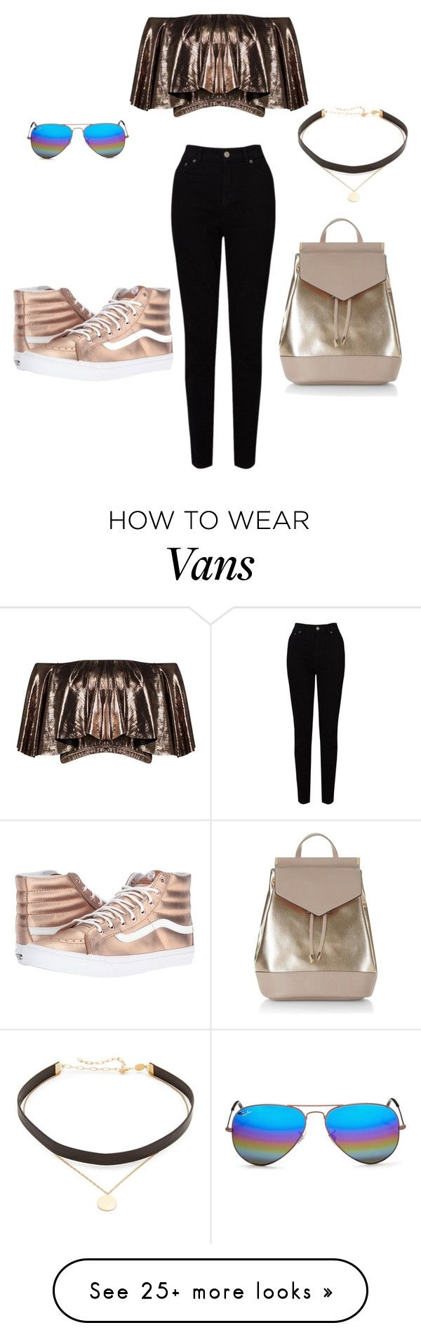 """""""Untitled #625"""" by rubysparks90 on Polyvore featuring Ray-Ban, Boohoo, EAST, Vans, New Look and Jennifer Zeuner"""