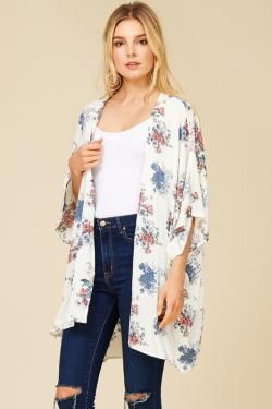FLORAL KIMONO BY TRES BIEN CLOTHING #FALL2017