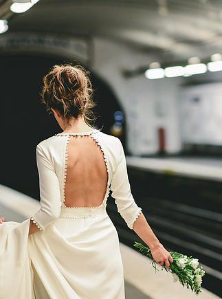 Robe de mariée dos nu - Robe: Mademoiselle de Guise, Collection 2015 - Crédit Photo: Ce Jour-Là - La Fiancée du Panda blog Mariage et Lifestyle