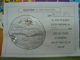 Valeria y el planeta Mercurio    Si el lunes estuvimos aprendiendo cositas del Sol, el martes le tocó el turno al primero de los planeta...