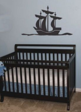 Pirate ship nursery wall decals and stickers
