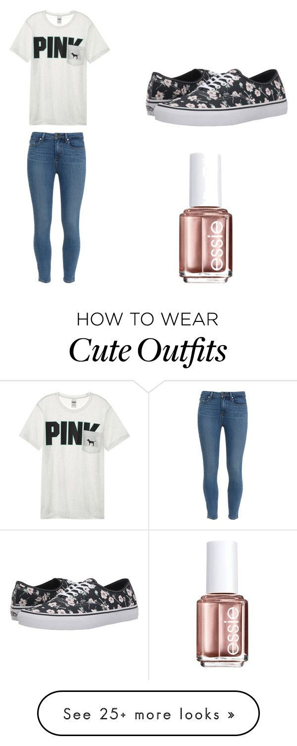 """Outfit 1033"" by that-girl-j on Polyvore featuring Paige Denim, Victoria's Secret, Vans and Essie"