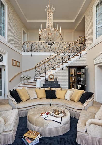 These Round Sofas Add A Nice Touch To The Traditional Home Decor Theme. Get  Inspired