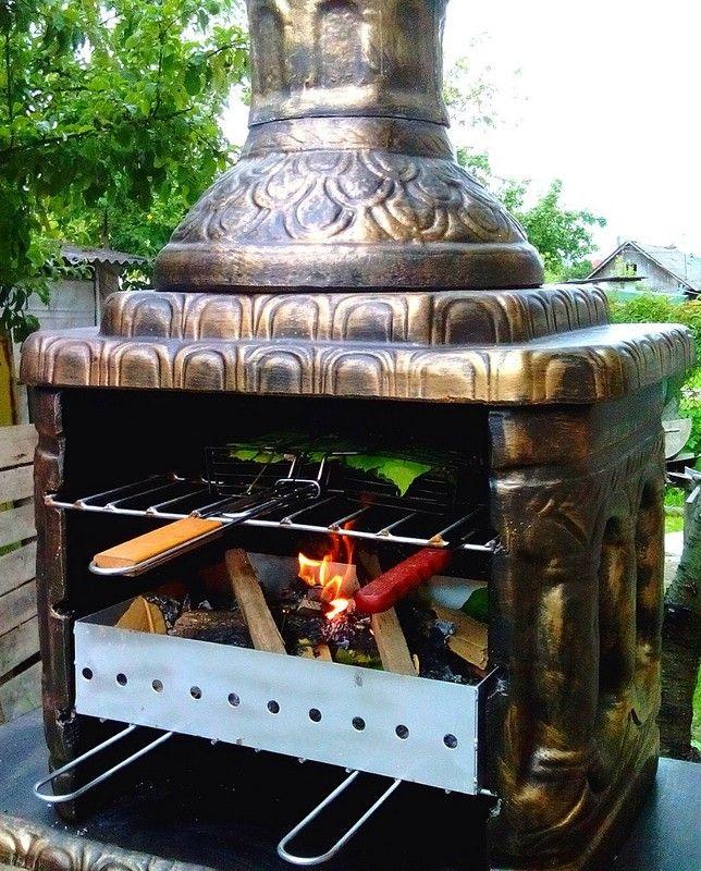 Изготовление барбекю из бетона электрокамины настенные купить в спб