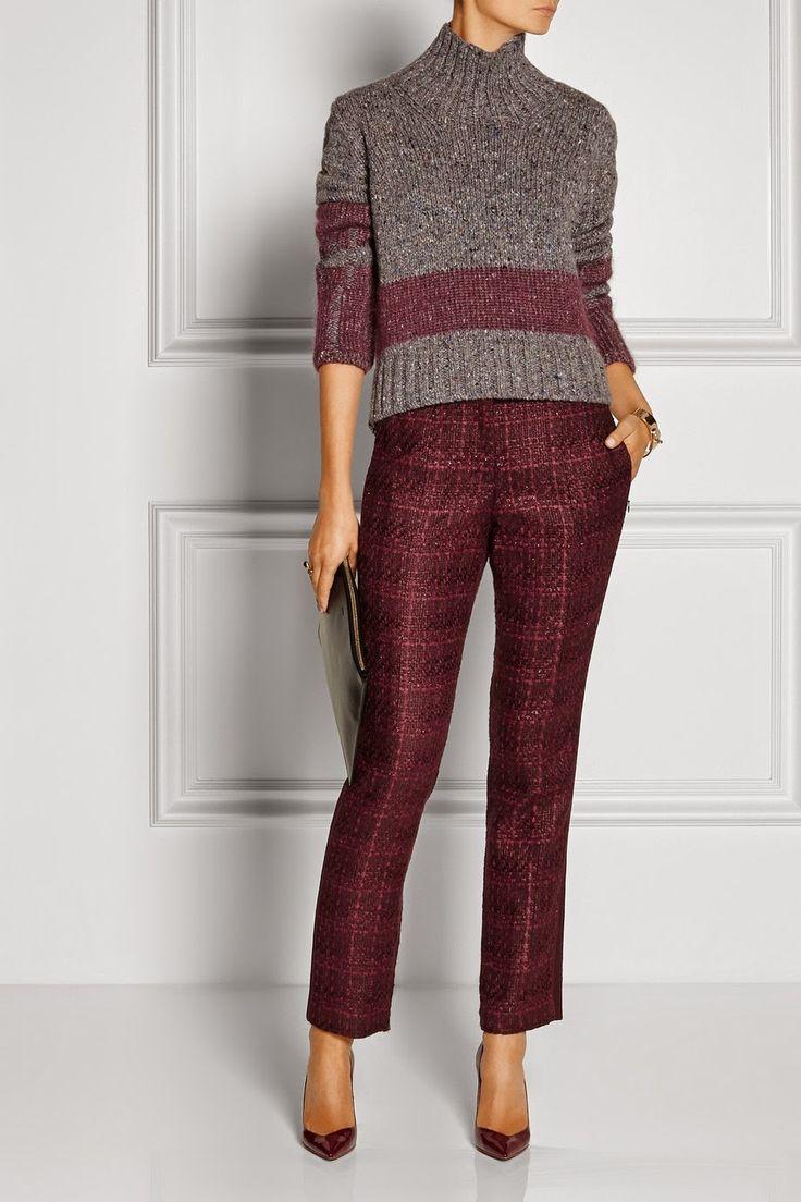 Style by Missis: Твид, костюмные широкие брюки, узкие укороченные - актуальны ли?