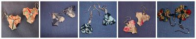 Rags and dots: Old things : earings with rags