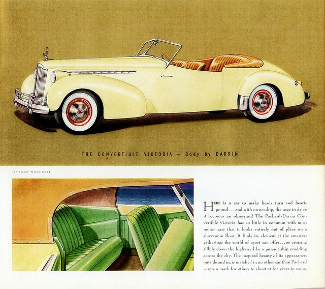 1940 Packard Super-8 One-Eighty Convertible Victoria By