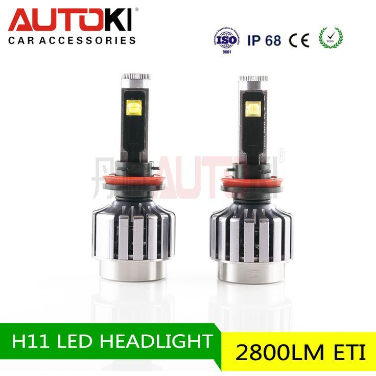 Wholesale Autoki LED Headlight Kit - 9005 9006 H1 H3 H4 H7 H11 LED Headlight Bulbs Conversion Kit with led car headlight