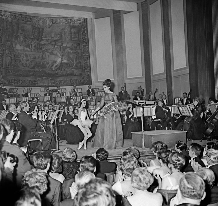 Callas was indisputably a supremely great artist, one of the very highest and most demanding rank -- an artist who comes along only a very few times in a generation, if we are extraordinarily lucky. - photo: Callas singing at a charity gala for the Maltese Order hospital at the Champs Elysées theater in Paris on June 5, 1963