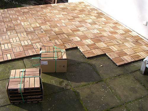 123 Buitenparket - Hardhouten Tegels voor Tuin  Terras