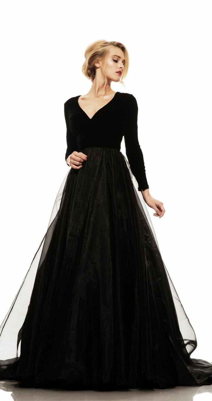 2c767ce85f Pratique robe longue de soirée robes soirée chic moderne robe noire belle   promgowns
