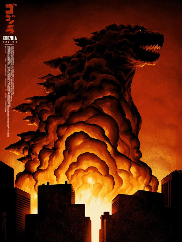 The SXSW poster for 'Godzilla' (Phantom City Creative/Mondo)