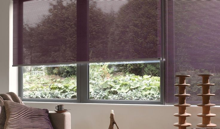 Textile stye - works like a roller blind with a soft design. Luxaflex® Facette® Shades