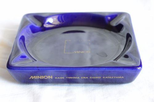 Greek-vintage-store-MINION-keramikos-made-ashtray-advertising