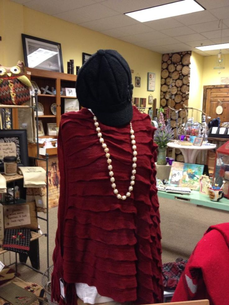 Wonderful knit shawl at a terrific price!  Cute wool hats too.  We ship anywhere and can soon be found on our online store.
