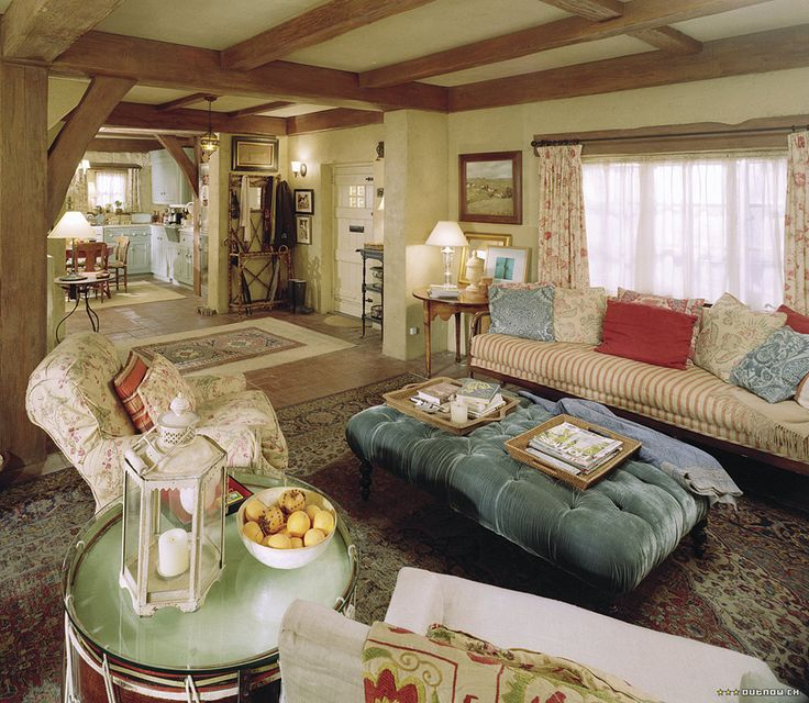 Cozy English Cottage Interior looks like the movie the holiday..