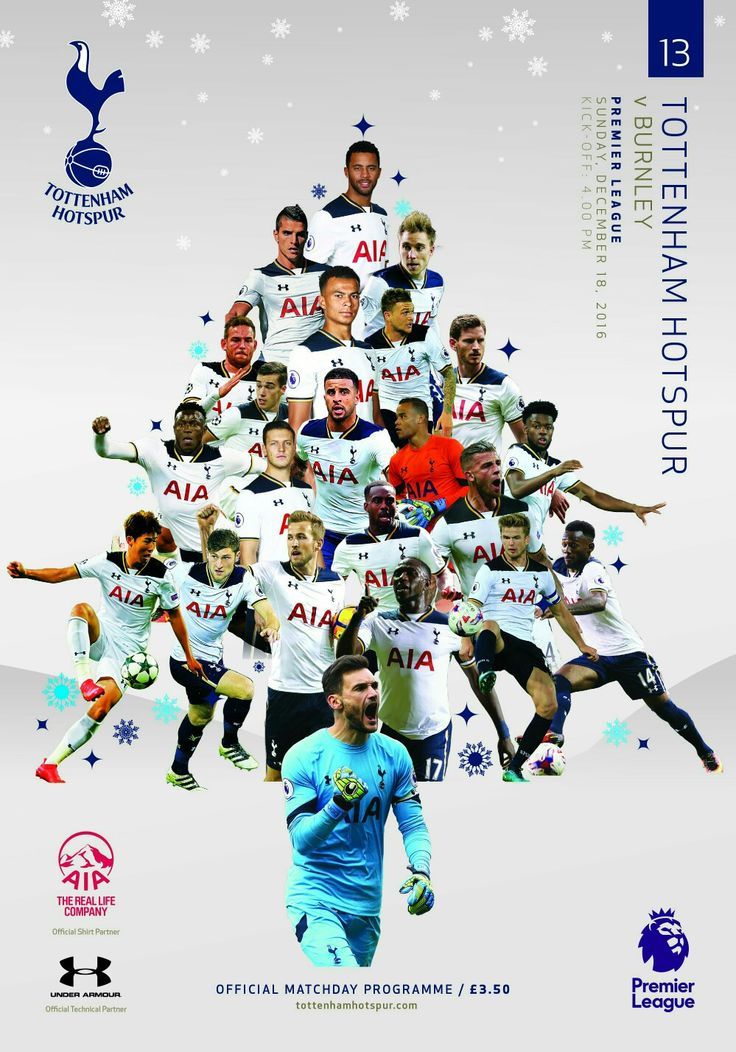 Spurs programme v Burnley. 18/12/16. Very festive.