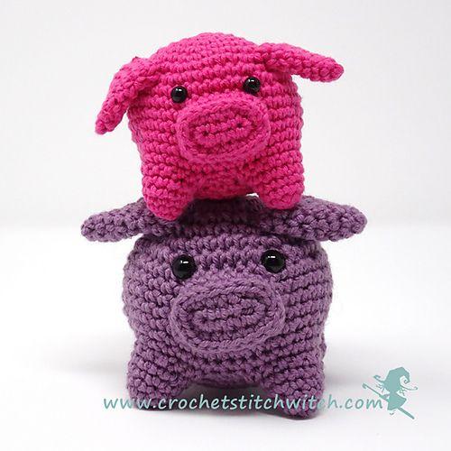 182 mejores imágenes de Crochet Piggy Pigs en Pinterest | Animales ...