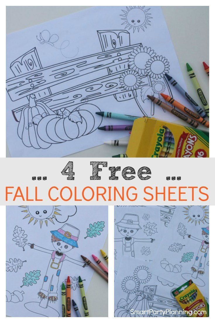 The Best Fall Coloring Sheets Preschoolers Will Love | Kid Blogger ...