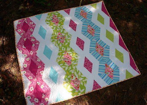 Princess Kate Diamond Quilt Pattern | FaveQuilts.com