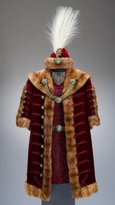 Gala costume | János Bíró | Hungary; Budapest | late 19th century | velvet, osprey feathers, mink, silk | Museum of Applied Arts, Budapest | Accession #: 2008.234.1-18