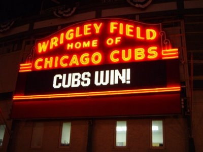 Chicago Cubs - Wrigley Field at night - RentalBeacon.com