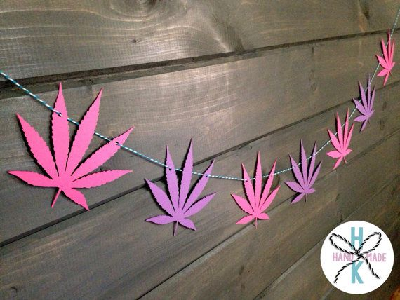 Marijuana Pot Leaf Weed Banner Wall Decor 420