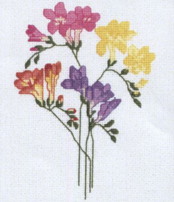 Freesia Cross Stitch Kit by Sarah May Designs for Classic Embroidery