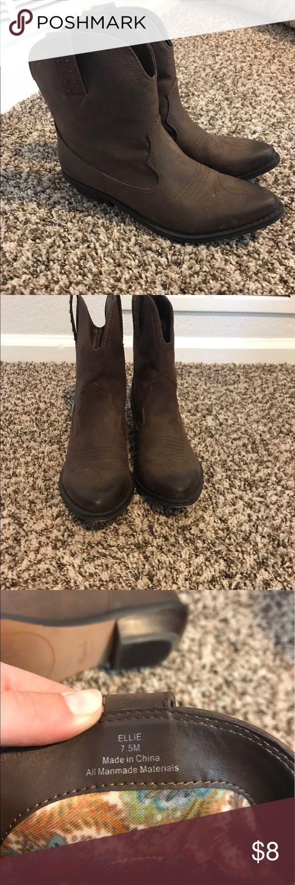 Miranda Lambert Ellie Cowboy Boot Brown Cowboy Boot Size 7.5 Shoes Ankle Boots & Booties