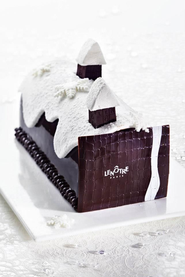 Lenôtre - Buche de Noel omg, I want to make a modern, chic buche de noel this season